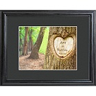Personalized Tree of Love Valentines Print with Wood Frame