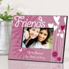 Personalized Hearts and Flowers Picture Frames