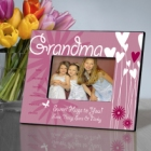 Personalized Hearts and Flowers Grandma Picture Frames