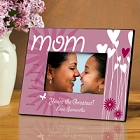 Personalized Hearts and Flowers Mom Picture Frames