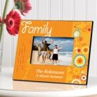 Sunshine & Flowers Personalized Family Picture Frames