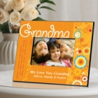 Sunshine & Flowers Personalized Grandma Picture Frames