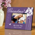 Bloomin Butterfly Personalized Grandma Picture Frames