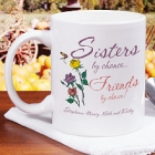 Sisters by Chance Personalized Coffee Mug