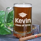 Class of 2015 Personalized Graduation Glass Mugs
