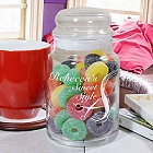 Engraved Hair Stylist Glass Treat Goodies Jar
