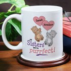 Purrfect Sisters Personalized Coffee Mug