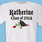Class of 2015 Diploma Rose Personalized Graduation T-Shirts