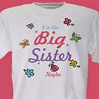 Butterfly and Flowers Personalized Sisters T-shirt