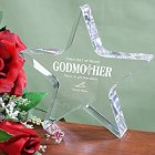 Engraved Godmother Keepsake Star