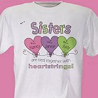 Heartstrings Personalized Sisters T-Shirt
