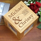 I Love Thee Personalized Photo Cubes