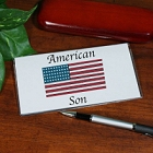 American Flag Personalized Patriotic Checkbook Covers