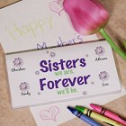 Sisters Forever Personalized Checkbook Covers