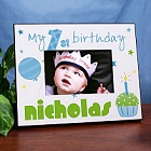 Baby Boy 1st Birthday Printed Picture Frame