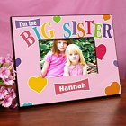 Big Sister Heart Personalized Printed Picture Frames