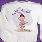 Little Ballerina Personalized Youth Sweatshirt