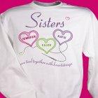 Sisters Heartstrings Personalized Sweatshirt