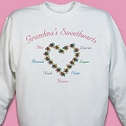 My Sweethearts Personalized Grandmother Sweatshirts