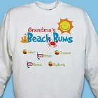 Grandmas Beach Bums Personalized Grandmother Sweatshirts