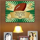 Personalized Football Coach Award Wall Signs