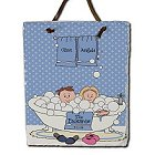 Tub Couple Personalized Wall Slate Plaque