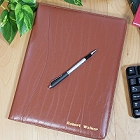 Personalized Tan Leather Portfolio