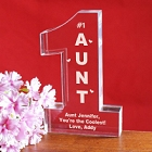 Engraved #1 Aunt Keepsake