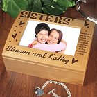 Personalized Sisters Photo Keepsake Box