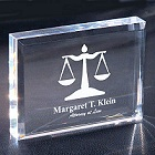 Personalized Lawyer Keepsake Paperweight