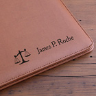 Personalized Attorney Leather Portfolio