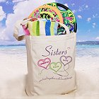 Sisters Heartstrings Personalized Canvas Totebags