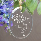 Personalized Godmother Oval Glass Ornament