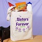 Sisters Forever Personalized Canvas Tote Bags