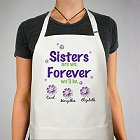 Sisters Forever Personalized Kitchen Aprons