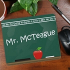 Personalized Teacher Chalkboard Mouse Pad