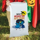 Monster Stash Personalized Halloween Trick or Treat Sacks
