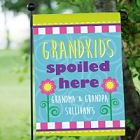 Grandchildren Spoiled Here Personalized Garden Flags