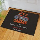 Motorcycle Garage Personalized Doormat