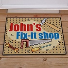 Fix-It Shop Personalized Doormat