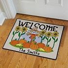 Pumpkin Patch Scarecrow Personalized Autumn Doormats