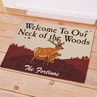Personalized Neck of the Woods Welcome Doormat