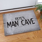 Man Cave Personalized Garage Doormats