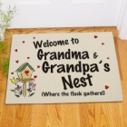 Welcome To Our Nest Personalized Doormat