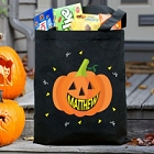 Smiling Pumpkin Personalized Halloween Treat Bags
