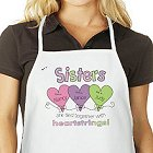 Hearts Strings Personalized Sisters Aprons