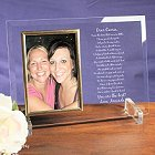 To My Sister Personalized Beveled Glass Picture Frames