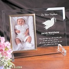 Personalized Baptism Beveled Glass Picture Frames