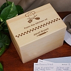Engraved From The Kitchen of Personalized Recipe Box