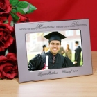 Personalized Memories and Dreams 2015 Graduation Silver Picture Frames